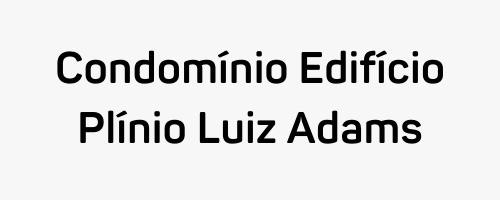 Logo Plinio Luiz Adams